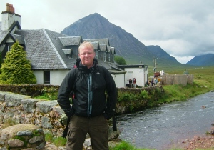 Brother-in-law Colin at the base of Ben Nevis.