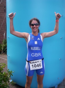 Comrade Russell, having won the 2012 European Sprint Duathlon Championships in Holland!