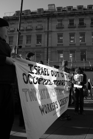 Sheffield demonstration against the Israeli military offensive in Gaza, January 2009.