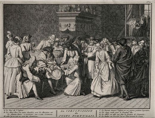 A_Portugese_Jewish_circumcision_ceremony._Engraving,_1741,_a_Wellcome_V0016781