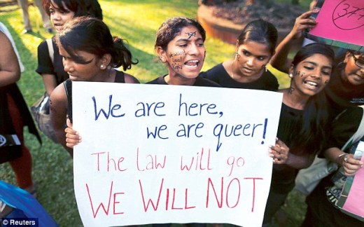 Delhi, 15th December 2013: Gay rights activists protest against Section 377 (Reuters Images).