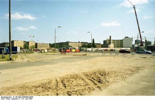 22.7.1991 Berlin-Mitte Gebiet der ehemaligen Mauer am Potsdamer Platz