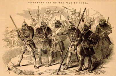 Sikh soldiers, 1846, Illustrated London News (Wikimedia Commons)
